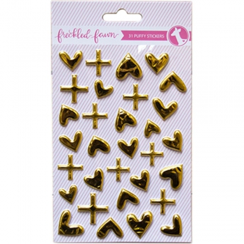 Freckled Fawn - Puffy Stickers Gold Heart & Signs