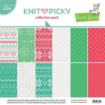 Lawn Fawn - Knit Picky Collection Pack 12""