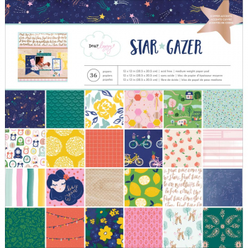 American Crafts - Star Gazer Paper Pad 12""
