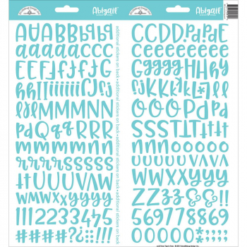Doodlebug - Alphabet Stickers Abigal Swimming Pool