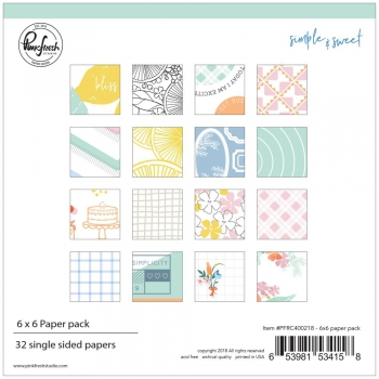 Pinkfresh Studio - Simple & Sweet Paper Pack 6""