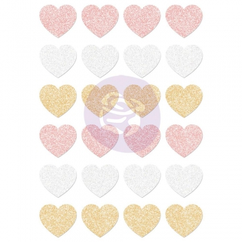 Prima - Santa Baby Heart Stickers