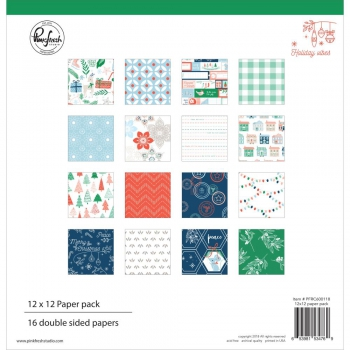 Pinkfresh Studio - Holiday Vibes Paper Pack 12""