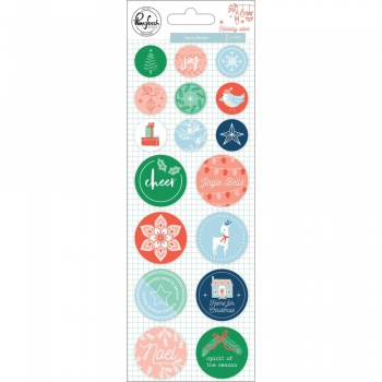 Pinkfresh Studio - Holiday Vibes Epoxy Stickers