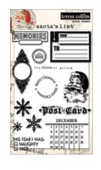 Teresa Collins - Santa´s List Clear Stamps
