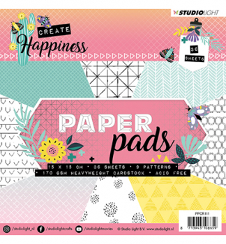 Studio Light - Happiness Paper Pad 15cm 111