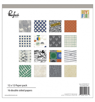 Pinkfresh Studio - Boys Fort Paper Pack 12""