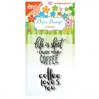 Joy!Crafts - Clear Stamp Coffee Enjoy
