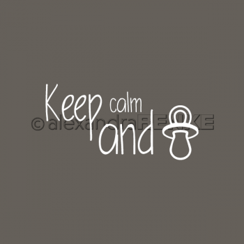 Alexandra Renke - Gummistempel Keep Calm and...