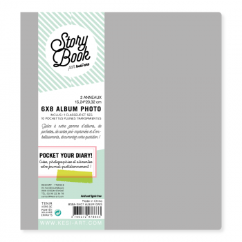 Kesi Art - Story Book Album 6x8 Gris
