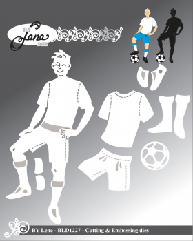 By Lene - Cutting Die Football Player / Fußball