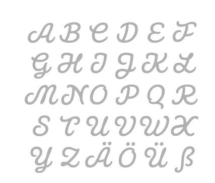 Rayher - Stanzschablone Connected Alphabet groß - cathleenkick.de ...