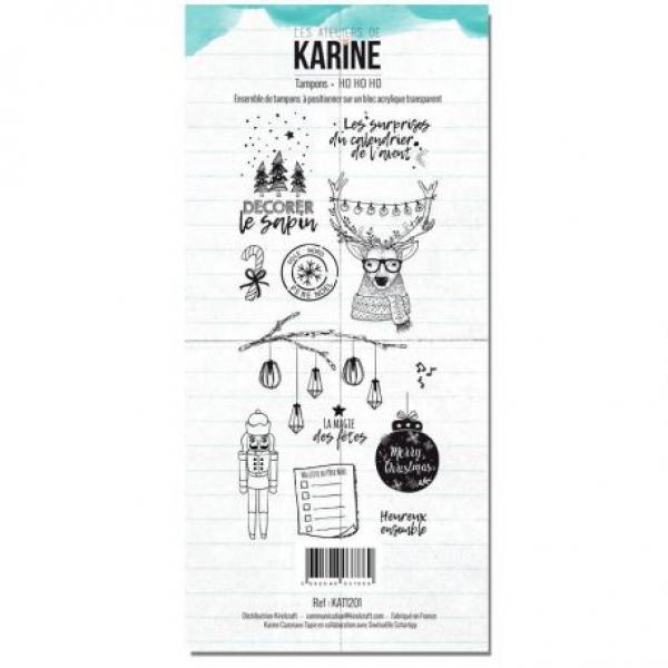 les ateliers de karine - clear stamp ho ho ho - cathleenkick de