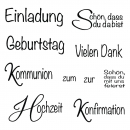 Rayher - Clear Stamps Anlass 1