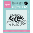 Marianne Design - Clear Stamp Every day is a coffee day